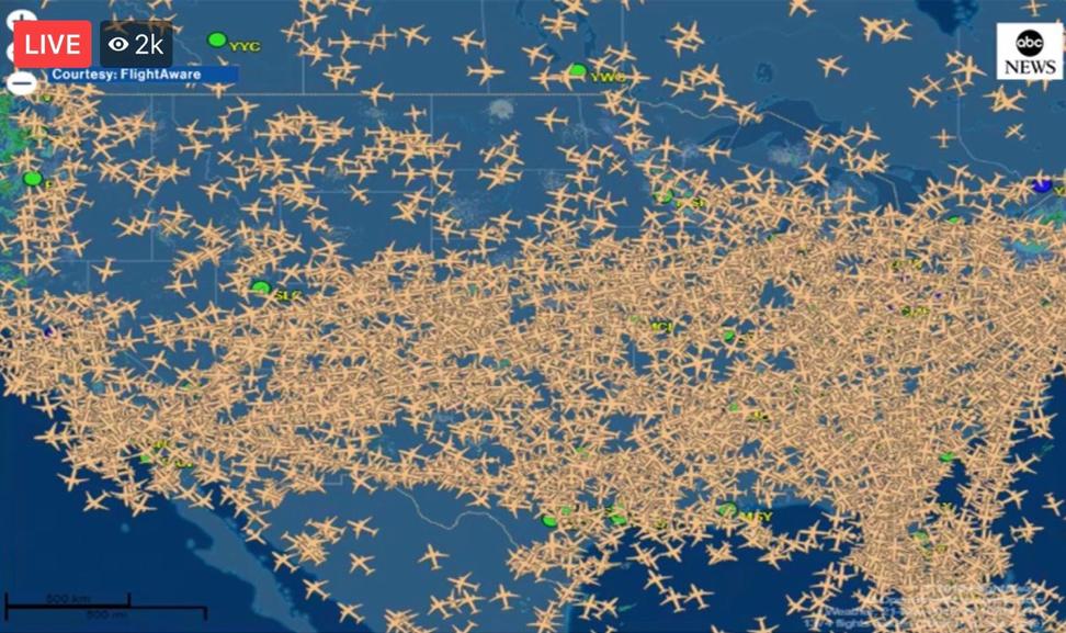 ruch samolotowy